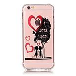 iphone 7 plus antichoc tpu dessin animé transparent doux artisanat bronzantes Housse pour iPhone 6s 6 plus soi 5s 5
