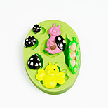 Peapod Baby Ladybirds Silicone Mold for Chocolate Polymer Clay Candy Making Sugarcraft Tools Cake Decorations Mould