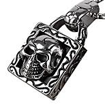 Retro Skull Lock Titanium Necklace Pendant