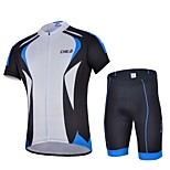 Sports Bike/Cycling Jersey + Shorts / Tops / Bottoms Men's Short Sleeve Breathable / Sweat-wicking Elastane WhiteS / M / L / XL / XXL /
