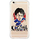 Waterproof/Transparent Cartoon TPU&Silicone Soft Shockproof  Football Stars Case Cover For iPhone 6s Plus/6s/6/SE/5s/5