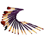 19Pcs Professional Synthetic Makeup Brush Sets with Bronzer Brush Powder Brush