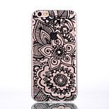 Transparent Black Lace Flowers Slim TPU Phone Case for iPhone 5/5S/SE/6/6S/6 Plus/6S Plus