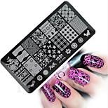 1pcs  New Nail Art Stamping Plates Colorful Image Templates Tools Nail Beauty XY-J15