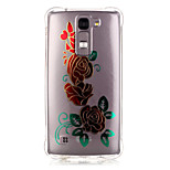 TPU Material Phnom Penh Rose Pattern Bronzing Phone Case for LG K10/K8/K7