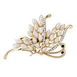 Art und Weise Frauen Perle vergoldet Schmetterlingsbrosche für Damen Hochzeit