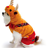 Cat / Dog Costume / Clothes/Jumpsuit Yellow / Gold Winter / Spring/Fall Animal Halloween, Dog Clothes