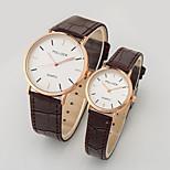 paar casual mode pu band quartz horloge