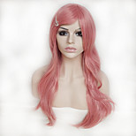 Color Cosplay Wig Pink 26 Inch High Temperature Curly Hair Silk Wig
