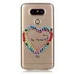 de volta Transparentes Other TPU Macio Transparent Case Capa Para LG LG K5 / LG G5
