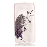 TPU + IMD Material Feather Pattern Slim Phone Case for  LG K8/K7/K4/G5