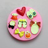 Slipper Mirror Shape Chocolate Silicone Molds,Cake Molds,Soap Molds,Decoration Tools Bakeware