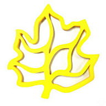 Maple Leaf Silicone Mat Waterproof Oil Pad / Heat Insulation Pad High Temperature Resistant Mat 5Pcs