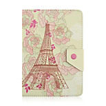 Eiffel Tower Pattern 7 Inch Tablet Case Universal Leather Stand Case Cover For 7 Inch Tablet PC Magnetic Flip Cover