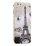 Map and Tower Pattern Metal Frame PC painted  Hard Case for iPhone6/6s/6 Plus/6s Plus
