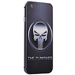 The Punisher Pattern Metal Frame PC painted  Hard Case for iPhone6/6s/6 Plus/6s Plus