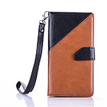 For Wiko Lenny2 2016 Fashion Splice Hit Color PU Leather Flip Case Stand Card Slots