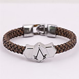 Leather Brown Weave Bracelet