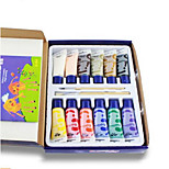 Korean Choi Lok Fu Children Finger Painting 12 Color Pigment Painting Tool Kit With Non-Toxic Water Puzzle Book