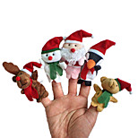 Christmas Cute Cartoon Character Modeling Finger Even Christmas 5PCS