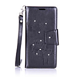 For LG K10/K7/G5/G4 Luxury Retro Dandelion Diamonds embossed wallet Phone Cover With Stand Card Holder
