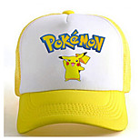 Pocket Little Monster Cute Pika Pika Yellow-White Adjustable Tennis Cap