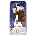 Cartoon Painting  TPU Soft for OPPO R7s Plus(dream girl)
