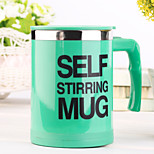 1 pc 400 ML Automatic Electric Stainless Steel Mugs  Random Color