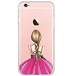 espalda Ultra-Fino / Traslúcido sexy lady TPU Suave Ultra-thin Sof  Back Cover Cubierta del caso para AppleiPhone 6s Plus/6 Plus / iPhone