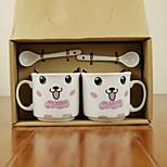 Cartoon Ceramic Mug 2 PCS/Set