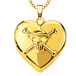 Box Pendant 18K Gold Plated Fashion vintage Jewelry Women Gift Romantic Heart Necklaces Pendants p30042