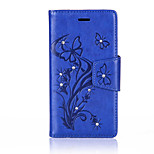 For Wiko Lenny3 Luxury Retro Butterfly Diamonds embossed wallet Phone Cover With Stand Card Holder