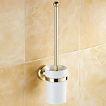 Toilet Brush Holder / Polished Brass / Wall Mounted /20*10*37 /Brass /Antique /20 10 0.407