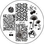 The Banana Tree Nail Plate Stamping Template Image Art BP46 Manicure Tool