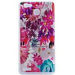 Flower Pattern Frosted TPU Material Phone Case for Huawei Ascend P9 Lite/P9/P8 Lite/P8