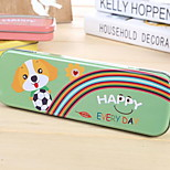 Tinplate Cute Monolayer Animal Pencil Case