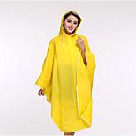 Fresh Plain Raincoat Bike Poncho Female Models Candy-Colored Poncho Raincoat