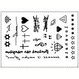 5PCS Fashion Cartoons Body Art Waterproof Temporary Tattoos Sexy Tattoo Stickers (Size: 3.74'' by 5.71'')