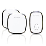 Household Electronic Wireless Doorbell One With Two Intelligent Battery Home Furnishing Waterproof Pager Doorbell