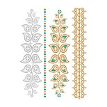 1PC  Bride Makeup Personality European Style  Waterproof Metal Tattoo Stickers