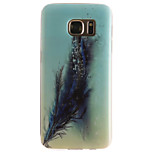 Feathers Painting Pattern TPU Soft Case for Samsung Galaxy S7 edge/S7/S6 edge/S6/S5 mini/S5/S4 mini/S4/S3 mini/S3