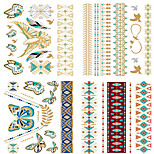 4PCS  Bride Makeup Personality European Style  Waterproof Metal Tattoo Stickers Suit -4