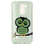 The New Owl Painted Patterns TPU Soft Case Phone Case For LG K4/K8