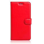Cuerpo Completo billetera / con el soporte / Dar la vuelta Color Sólido TPU Suave Wallet type bracket / flip / mobile phone shellCubierta