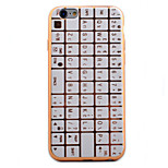 Keyboard Pattern Plating TPU Soft Case Phone Case for iPhone 6/6S