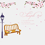 Romance Wedding Room Pink Cherry Blossom Cerasus Wall Stickers DIY Love Living Room Wall Decals
