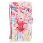 PU Leather Material 3D Painting Balloon Bear Pattern Phone Case for LG K5/K7/LS775