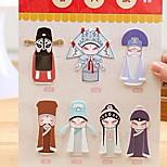 7 Creative Chinese Style Peking Opera Characters Bookmarks