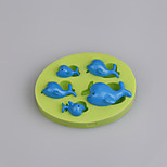 Whale Finding Dory CupCake Decoration Silicone Fondant Mold Sugarcraft Tools Polymer Clay Chocolate Candy Making