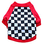 Gatti / Cani T-shirt Rosso / Nero Estate / Primavera/Autunno Geometrico Di tendenza-Pething®, Dog Clothes / Dog Clothing
